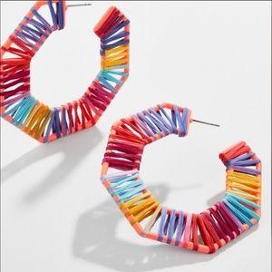 NWT Baublebar Rafia Hoop Earrings NWT